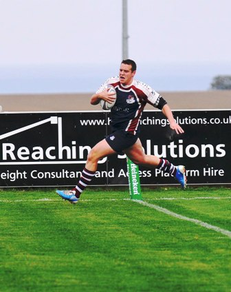 SKIPPER TOP RATCLIFFE WHO SCORED BOTH OF SCARBOROUGH' TRIES AT BRIDLINGTON