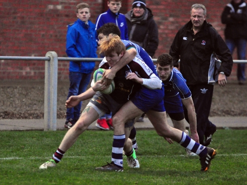 JACK ANDERSON IN ACTION AT SILVER ROYD TODAY (Andy Standing)