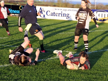 CATHY-ANN MYERS SCORES AGAINST WORKINGTON Andy Standing