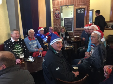 TRAVELLING SUPPORTERS IN FESTIVE MOOD AT WATH