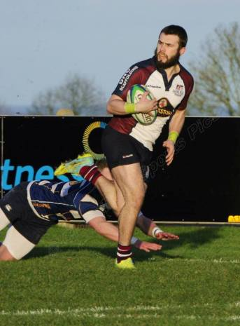 HARRY DOMETT SCORED TWO TRIES AGAINST HEATH photograph ANDY STANDING