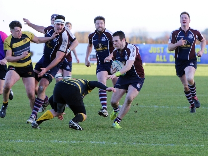 HARRY DOMETT SCORED TWO TRIES THIS AFTERNOON