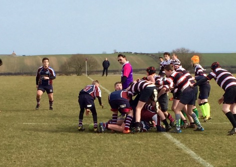 SCARBOROUGH CLEAR OUT A RUCK AGAINST MALTON  LAST SUNDAY