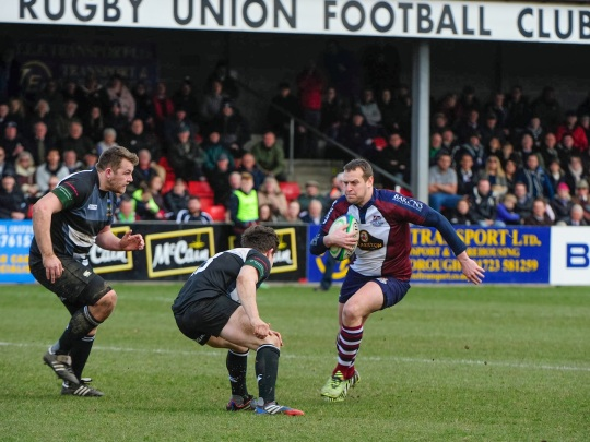 TOM RATCLIFFE ON THE CHARGE IN FRONT OF A PACKED STAND LAST WEEK