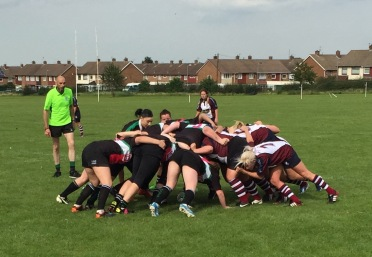 THE VALKRYIES SCRUM DOWN AT ACKLAM